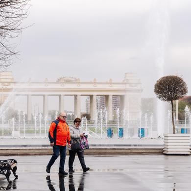 В Парке Горького запустили фонтаны!