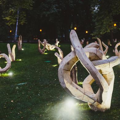Открытие инсталляции Signet скульптора Николая Полисского