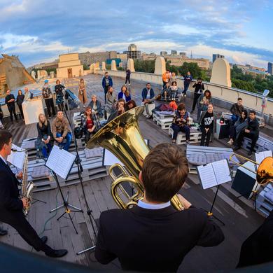 Джаз и виолончель на крыше Музея Парка Горького