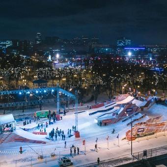 Открытие сноуборд-парка на Пушкинской набережной