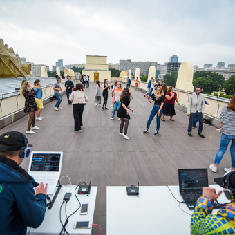 Silent Disco on the Observation deck of Gorky Park Museum