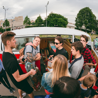 Quiksilver Go Longboard in Gorky Park