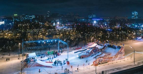 Сноуборд-парк на Пушкинской набережной